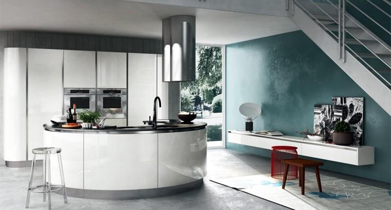 cuisine courbe ou arrondie. Black Bedroom Furniture Sets. Home Design Ideas