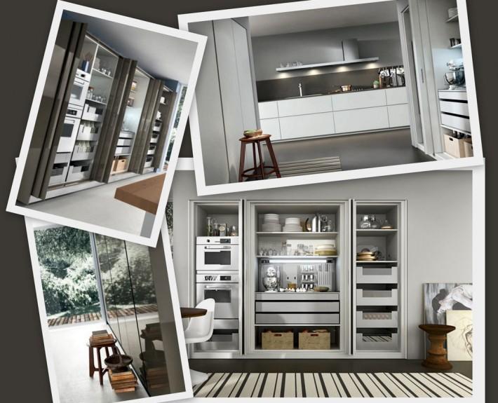 Meubles wing par Armony cuisine - Rangements invisibles pour cuisine contemporaine.