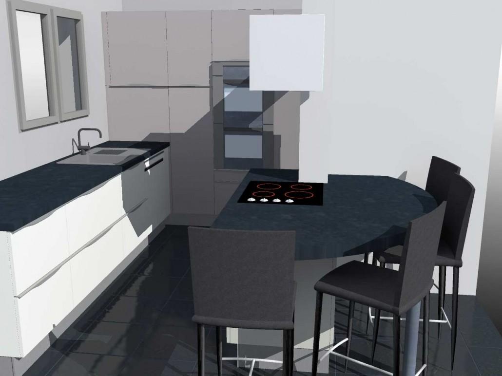 etude implantation cuisine varces 38. Black Bedroom Furniture Sets. Home Design Ideas