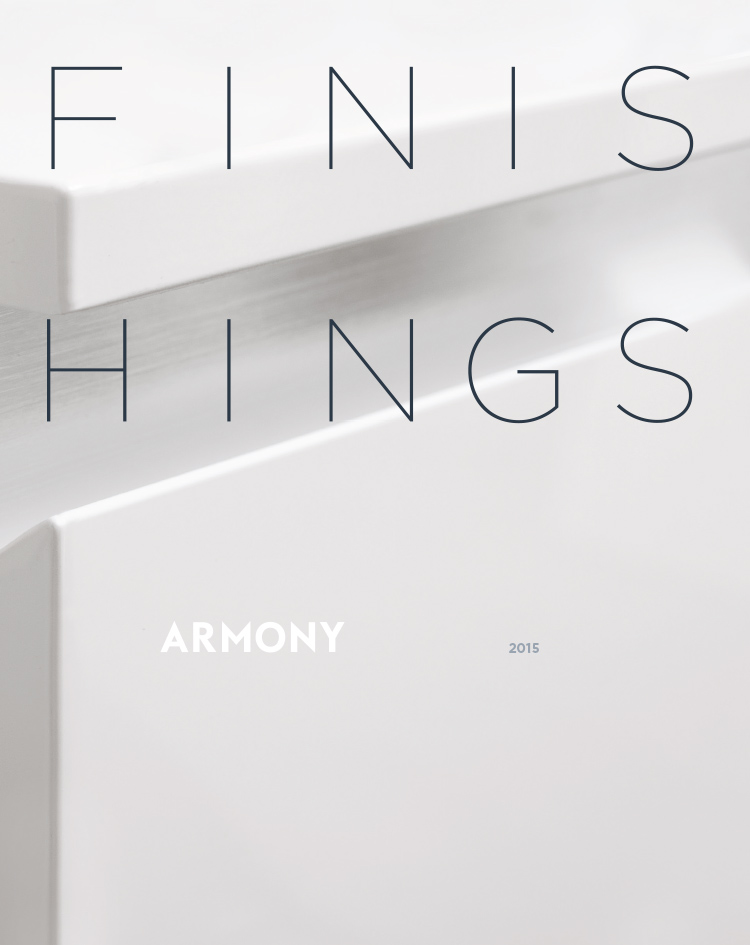 Armony 2015 catalogue des finitions