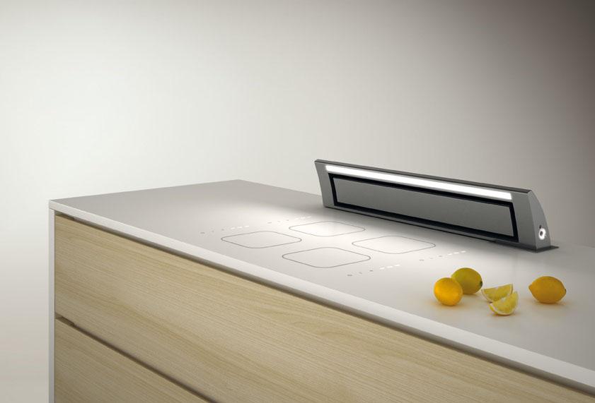 hotte escamotable sous plan de travail. Black Bedroom Furniture Sets. Home Design Ideas