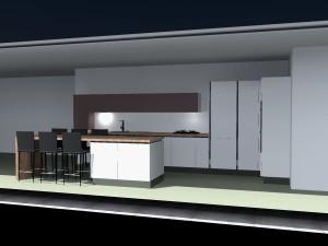 Colonne frigo + colonne d'angle + colonne fours