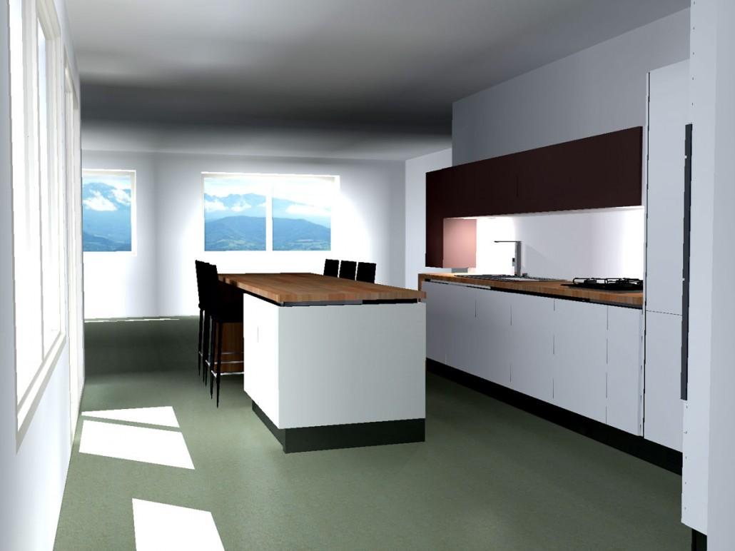 projet cuisine corenc. Black Bedroom Furniture Sets. Home Design Ideas
