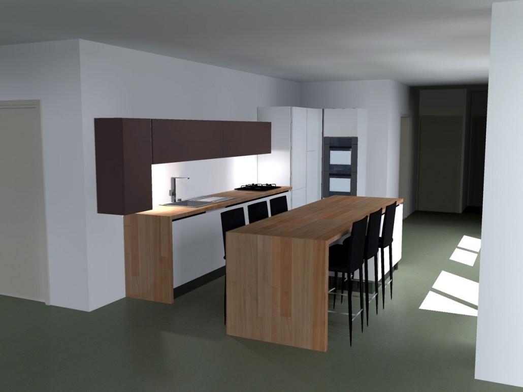 Projet cuisine corenc for Elements hauts cuisine