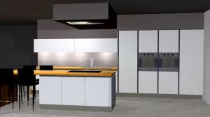 4 colonnes de 60 (frigo, fours; micro-ondes, rangement alimentaire)