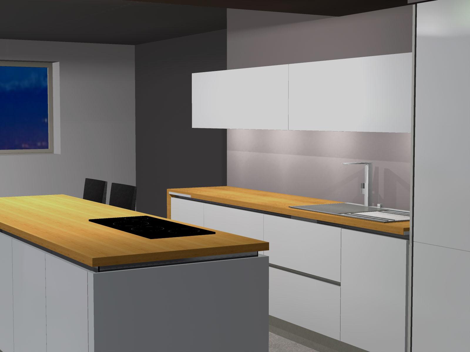 cuisine corenc sans poign e armony. Black Bedroom Furniture Sets. Home Design Ideas