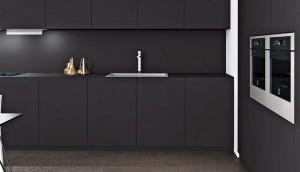 L'énorme avantage d'une cuisine en Fenix sur la teinte noire c'est l'absence totale de trace de doigt... Fenix le matériau nouvelle génération.