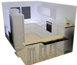 Ajout d'un meuble à épices à droite du meuble sous évier