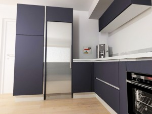 Détail de la gorge côté frigo (ouverture de la colonne sur la gauche)