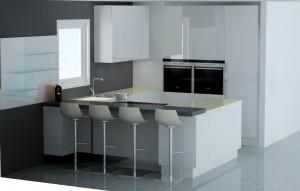 Possibilité de mettre 2 colonnes identiques de hauteur 228cm, on peut alors placer un meuble au dessus du frigo.