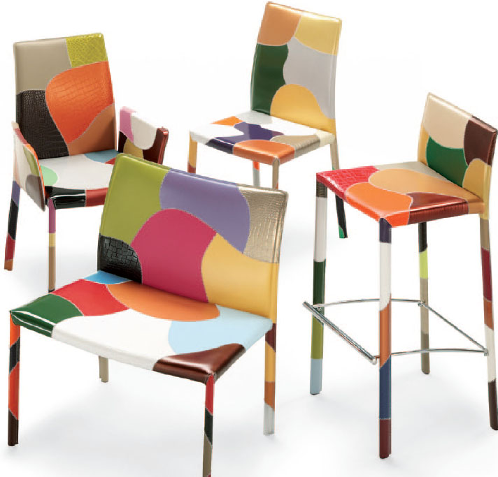 chaises et tabourets en cuir airnova. Black Bedroom Furniture Sets. Home Design Ideas