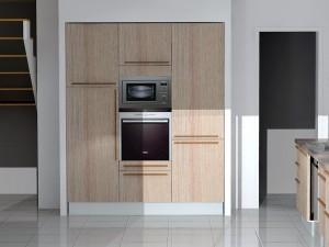 Poignées horizontales et verticale avec meuble gauche 2 portes