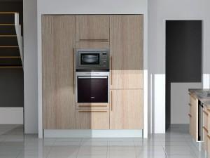 Poignées verticales avec meuble gauche 1 porte
