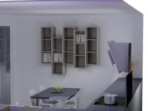 Jeu de 5 meubles ouvert pour créer une bibliothèque asymétrique.