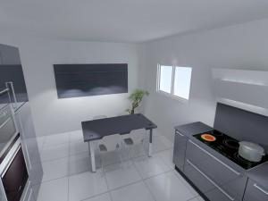 Le 'meuble placer system' est composé d'étagère en verre de 25cm de profondeur qui peuvent être placées comme on le souhaite.