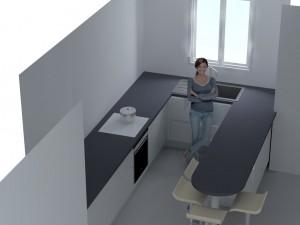 Imaginez vous la porte du lave-vaisselle ouverte...