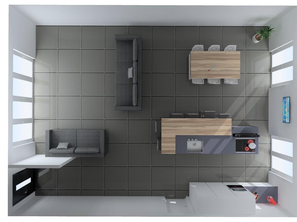 Dessus de cuisine dessus de comptoir de cuisine en bois for Table vue de haut