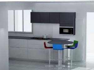 Placement du micro-ondes au dessus de la table