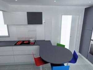 Dans la configuration actuelle, on ne peut placer une hotte dans un meuble de 90cm sauf à n'avoir que ce meuble centré sur la plaque