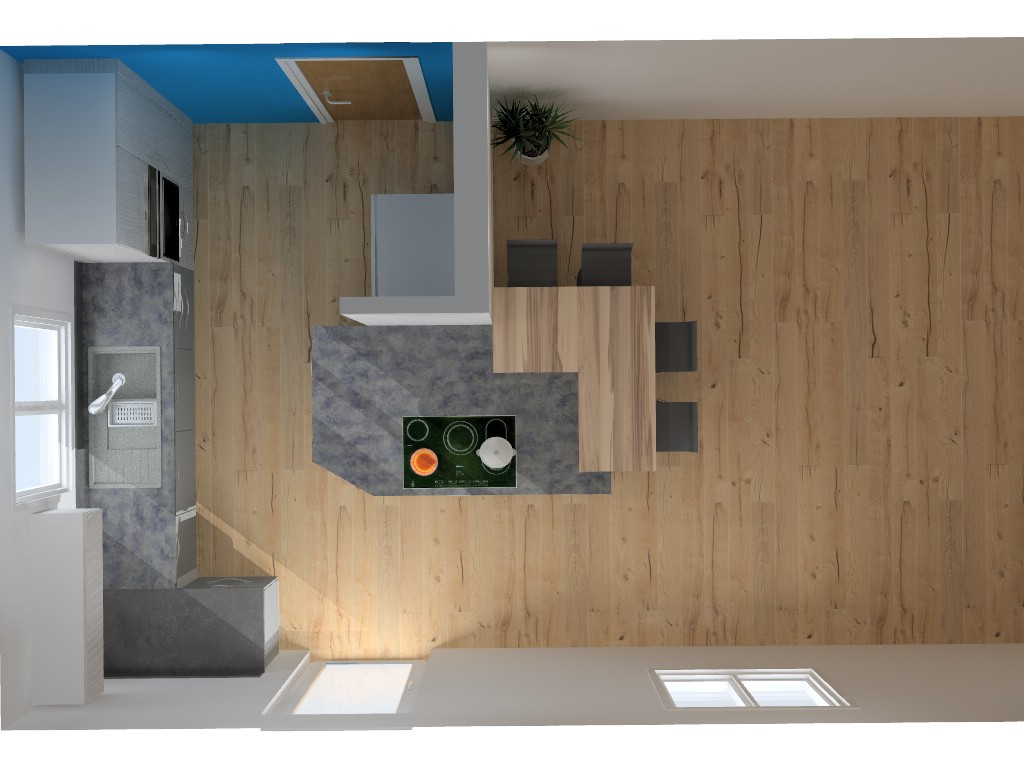Awesome Hotte Plafond Moteur Deporte #5: Cuisine-Armony-Sigma-Rumilly-