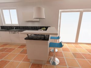 Attention à la hauteur de la hotte qui doit être située à 65cm environ de la plaque de cuisson.