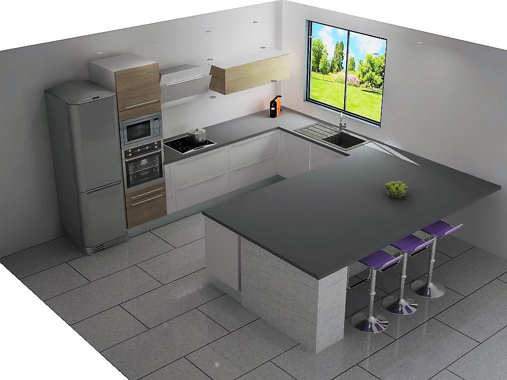 largeur plan de travail cuisine cool demandez conseil. Black Bedroom Furniture Sets. Home Design Ideas