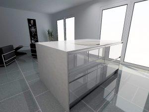 Coulissants de 90 Armony T16 verre blanc