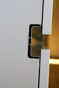 Détail sur la gorge intermédiaire avant mise en place du cache.