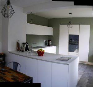 Vue d'ensemble de la cuisine -  coloris blanc mat