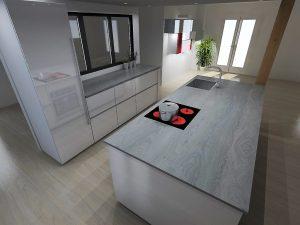 Obligation de mettre une poignée sur la colonne frigo ou de mettre un frigo design 'visible' en aluminium.