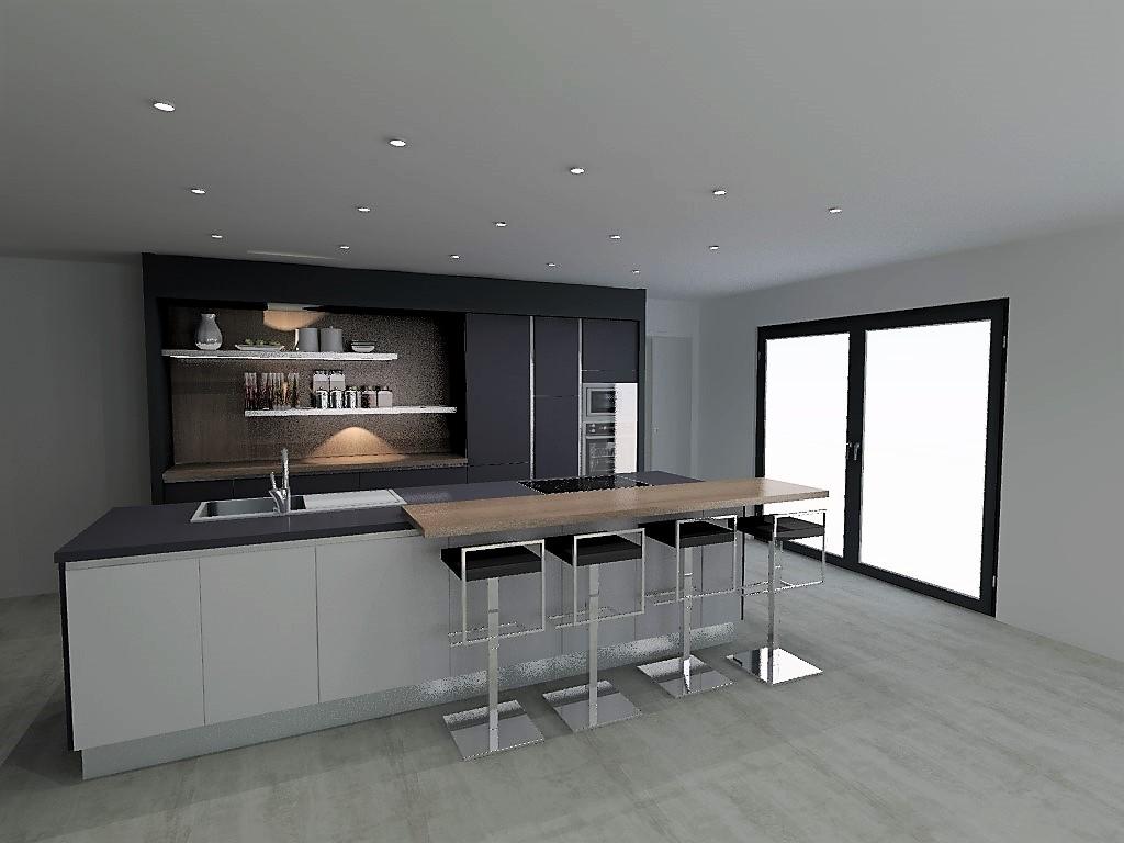 cuisine armony en fenix sur aubenas osez le noir et blanc. Black Bedroom Furniture Sets. Home Design Ideas