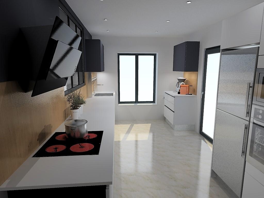 cuisine armony nanterre habill e de fa ades en fenix bianco. Black Bedroom Furniture Sets. Home Design Ideas