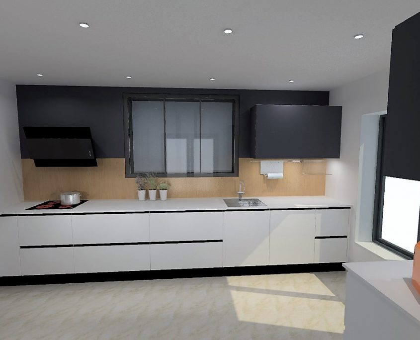 cuisine armony vif r alisation en fenix fa ades et plans. Black Bedroom Furniture Sets. Home Design Ideas