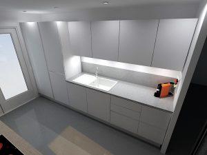 Dans cette configuration le frigo (colonne de droite) s'ouvrira vers la droite, de plus il faut garder un fileur à gauche des colonnes pour permettre l'ouverture de la 1ere colonne