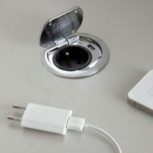 bloc-1-prise-USB-affleurante-avec-clapet-metal-finition-inox-brosse-a-encastrer