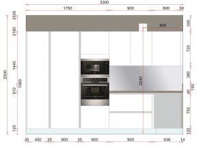 La disposition actuelle de la VMC doit permettre de passer au millimètre par rapport aux côtes des meubles