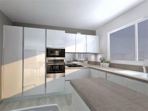 Insertion colonne double porte pour frigo hauteur 123cm