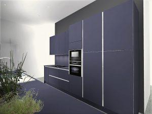 Colonnes four/MO + frigo + rangement alimentaire avec 4 tiroirs coulissants