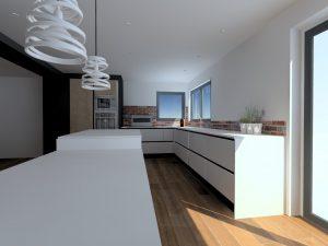 Le lave-vaisselle comporte une structure en aluminium permettant de place r une gorge au centre afin d'avoir la continuité des façades.