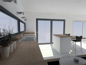 Le meuble îlot fait 80x60cm