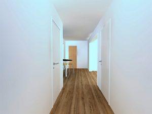 Vue du couloir des chambres