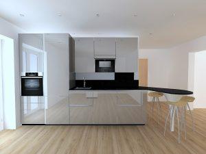 Rangements maximums grâce à la hauteur des meubles